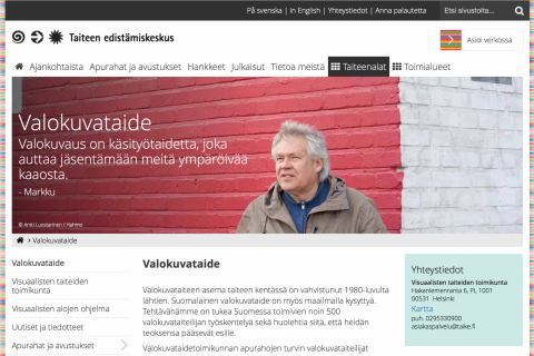 taike.fi website